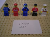 5 Lego Racers Minifigs Group 201 in Sandwich, Illinois