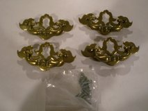 4 Brass Drawer Handles in Yorkville, Illinois