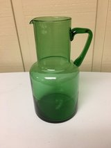 GREEN GLASS PITCHER in Glendale Heights, Illinois