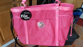 Pink file/laptop tote bag - New with tags! in Travis AFB, California