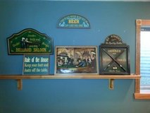 Pool Table/Game Room Decor/Like New/Set of 5 Wall Decor in Oswego, Illinois