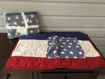 2 NEW Pottery Barn American Flag Shams - Standard Size in Bolingbrook, Illinois