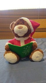 Talking story telling Christmas bear in Yucca Valley, California