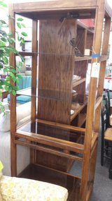 Wood shelf unit in St. Charles, Illinois