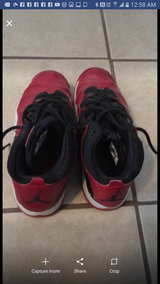 Boys size 4 1/2 jordan shoes in Fort Bliss, Texas