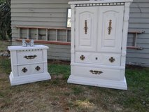 Matching Armoire and Bedside Table in Tacoma, Washington