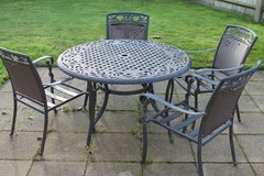Metal Patio Table and Metal Chairs in Lakenheath, UK