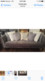 Grey-silver Home Goods Couch in Aurora, Illinois