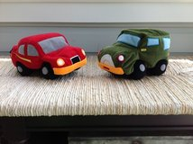 2 Plush Decorative CAR PILLOWS for Little Boy's Bedroom in Plainfield, Illinois