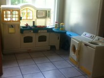 TOY KITCHEN & LAUNDRY SETS WITH LOTS OF PLAY FOOD $100. FIRM IN BRYNNMARR in Camp Lejeune, North Carolina