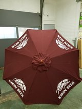 Brand new Kirin Beer 7' fabric umbrella Scotch guard in Chicago, Illinois