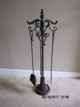 Antiqued Patina Stylel Fireplace Tool Set in Travis AFB, California