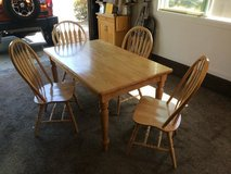OAK TABLE & 4 CHAIRS in Travis AFB, California
