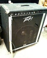 "Peavey 115 bass amp combo on casters, single 15"", EQ, works great in Tacoma, Washington"