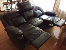 Leather couch home cinema couch, recliner in Travis AFB, California