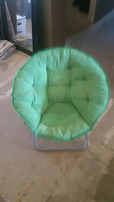 green chair in Yucca Valley, California