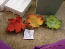 Party lite tea light leaf candle holders in Lawton, Oklahoma