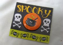 "Pin Badge Button Halloween Spooky Cat Witch Pumpkin Costume Skull Cross Bones 1"" in Houston, Texas"