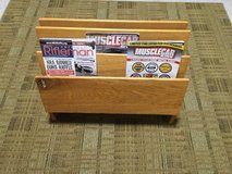 Beautiful Oak 3 Section Magazine Rack in Camp Lejeune, North Carolina