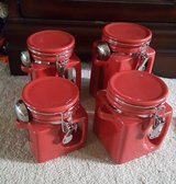 Canister Set-OGGI 4 pc-Red in Joliet, Illinois