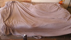 Tan suede couch cover set in Yucca Valley, California