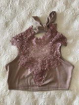 Lace crop top in Yucca Valley, California