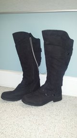 New!  Womens Shoes - Tall Black Boots Size 8W in Lockport, Illinois