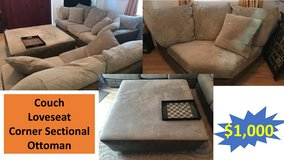 PCS Sale- Sectional Couch/Sofa, Desk, GPS, Tent in Okinawa, Japan
