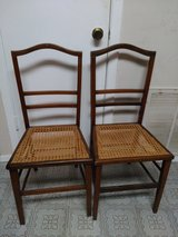 Cane Seat Wood Chairs - A Pair in Houston, Texas