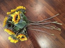 Bunch of Faux Sunflowers (8 in total) from Pottery Barn in Westmont, Illinois