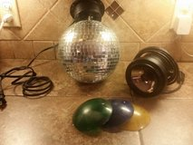 Electric mirror ball w/light in Pasadena, Texas