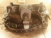 Brown leather purse with bling rhinestones…NICE in Kingwood, Texas
