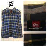 Large quicksilver plaid shirt in 29 Palms, California