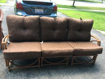 Bamboo 3piece set with cushions in Plainfield, Illinois