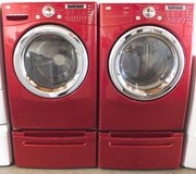 FRONT LOAD LG STEAM WASHER AND GAS DRYER WITH STAND in Camp Pendleton, California