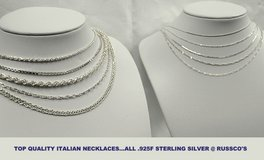 .925f silver necklaces from Italy in Okinawa, Japan