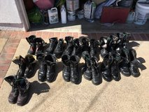 steel toe black leather boots in Camp Pendleton, California