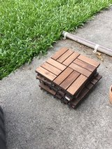 wooden tiles for outside in Okinawa, Japan