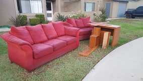 Free Couch, loveseat, and desk in Camp Pendleton, California