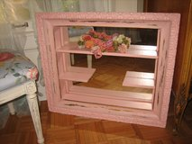 vintage girdle pink shabby chic  shadow box mirror in St. Charles, Illinois