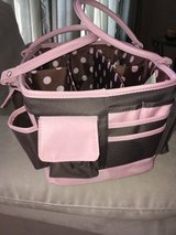 Arts and Craft Open Top Tote with Handles Brown and Pink - lots of space! in Lockport, Illinois