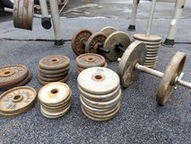 600+ lbs of free weights, bench & bars in Alamogordo, New Mexico