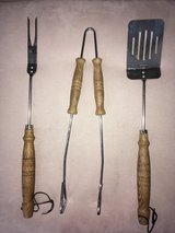 Grilling Set - 3 Piece Fork, Tongs, Spatula in Bolingbrook, Illinois