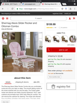 New Glider rocker with ottoman in Fort Campbell, Kentucky