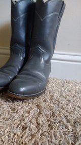 Woman's grey leather boots in Byron, Georgia