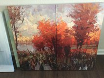 Autum Abstract Painting, Double Frame in Fort Bliss, Texas