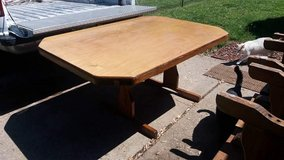 """Table and 6 chairs 5' long 42"""" wide in Fort Riley, Kansas"""