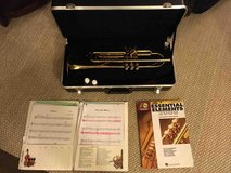 Holton Trumpet and Case + book and sheet music in St. Charles, Illinois