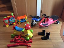Riding toys and diving boots size4 in Okinawa, Japan