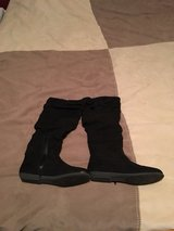 Black suede zip boots in Lawton, Oklahoma